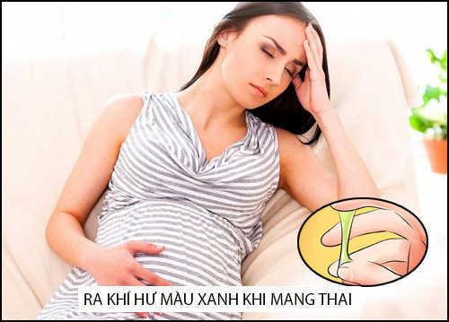 vì sao bị ra khí hư màu xanh khi mang thai