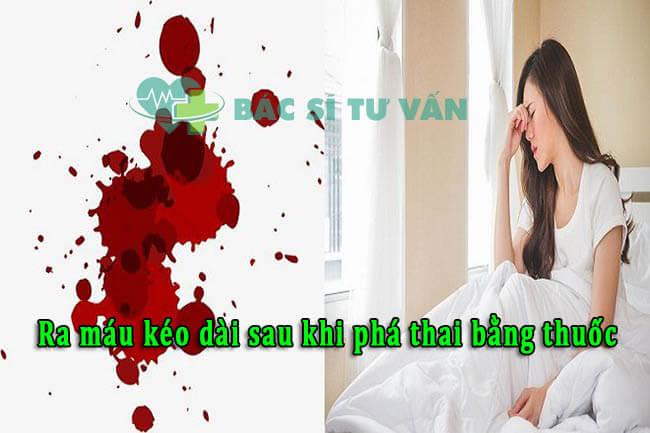 Ra máu kéo dài sau khi phá thai bằng thuốc có sao không?